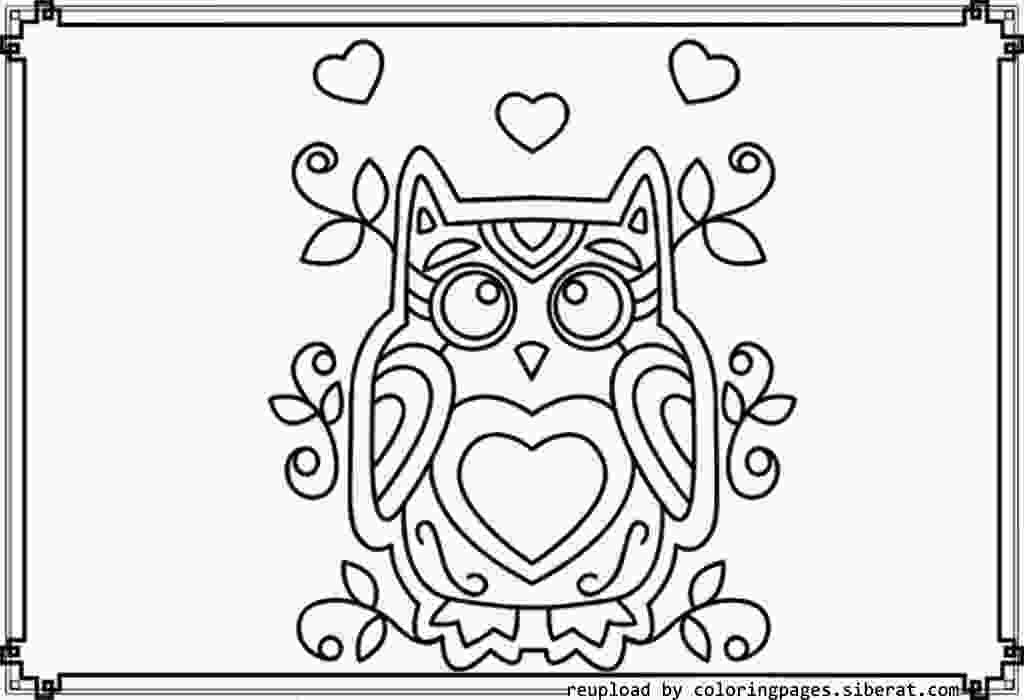 cute owl printable coloring pages cute owl coloring pages to print coloring home