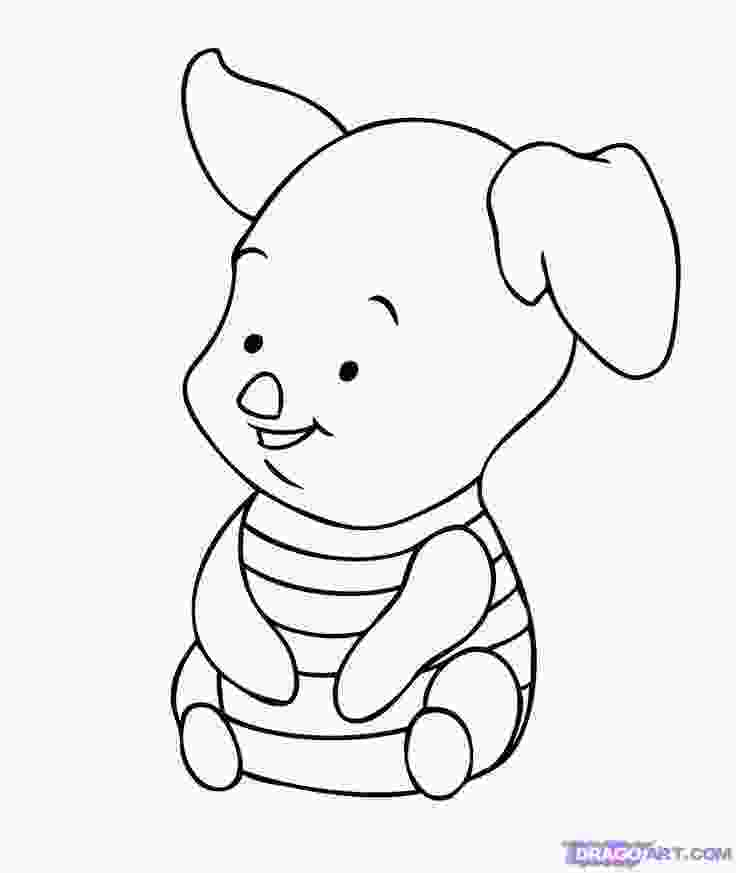 disney characters sketches step by step baby tigger coloring pages how to draw baby piglet step