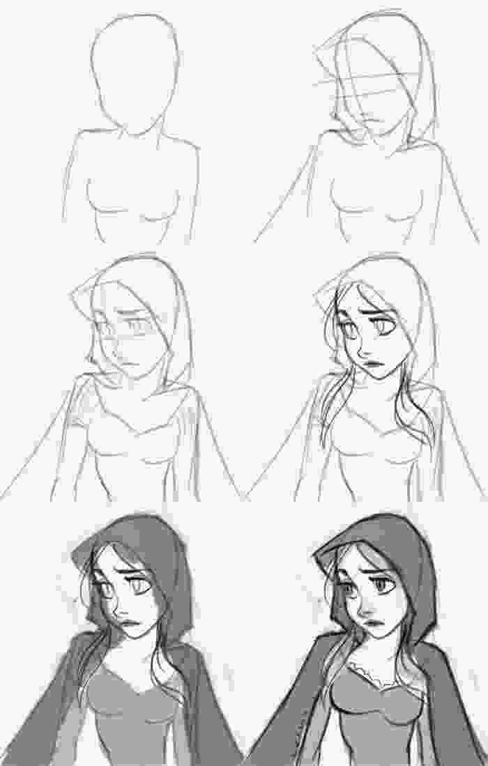 disney characters sketches step by step how to draw red riding hood learn to draw a little red