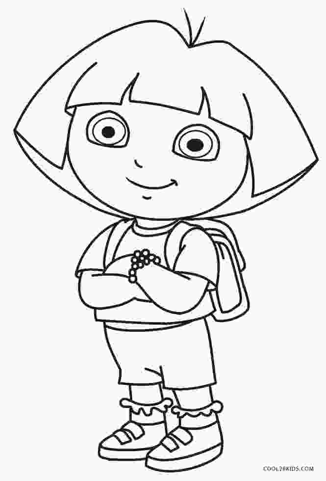 dora printable coloring pages free printable dora coloring pages for kids cool2bkids