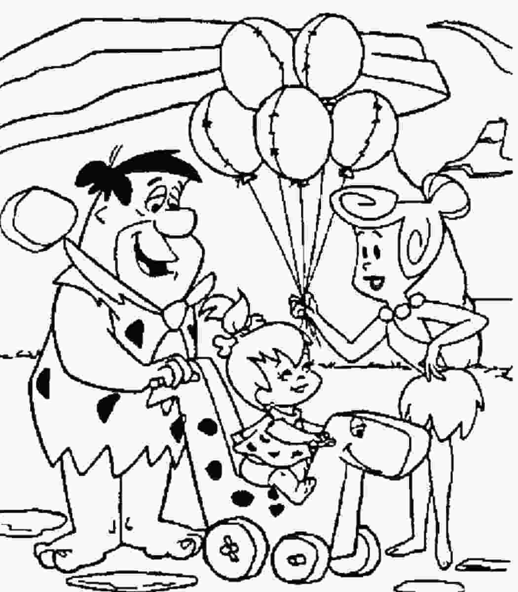 free printable coloring books the flintstones coloring pages
