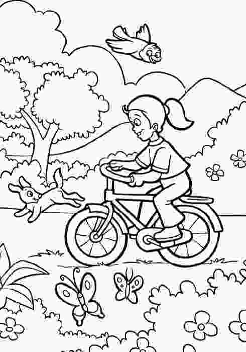 kids coloring print welcome spring coloring pictures spring day cartoon
