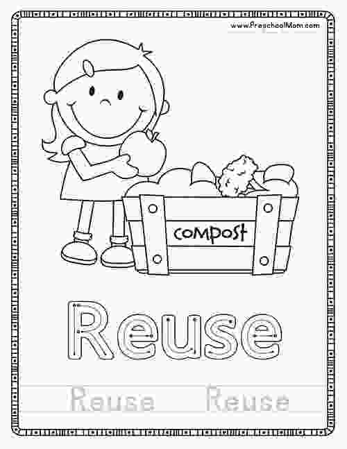 kindergarten recycling coloring pages earth day preschool printables preschool mom