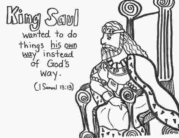 king saul coloring page 10 best images about king saul disobeys god on pinterest