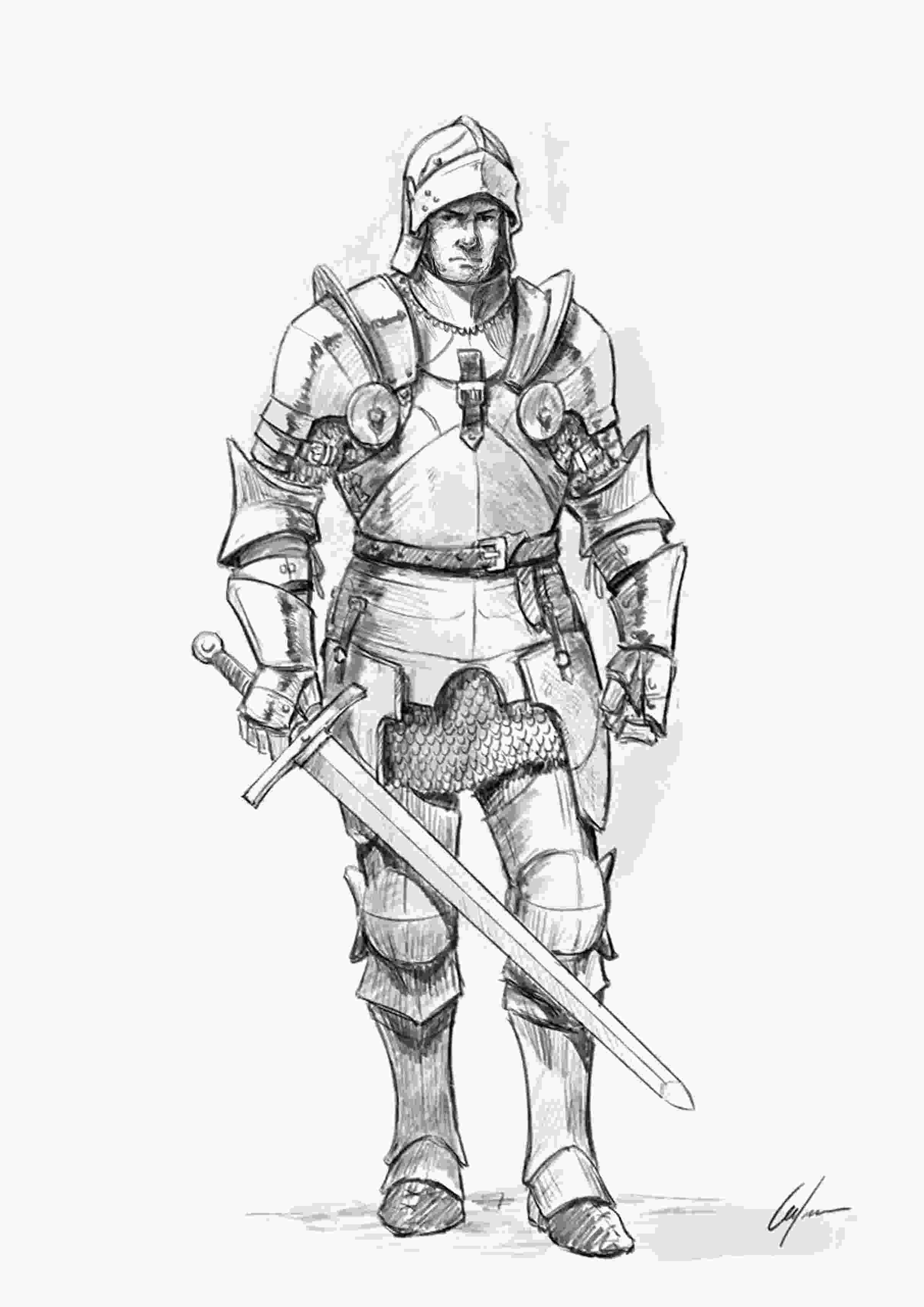 knight drawing how to draw a knight step by step tutorial knight