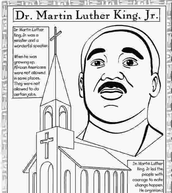martin luther king jr coloring sheets coloring cabin martin luther king jr printables and