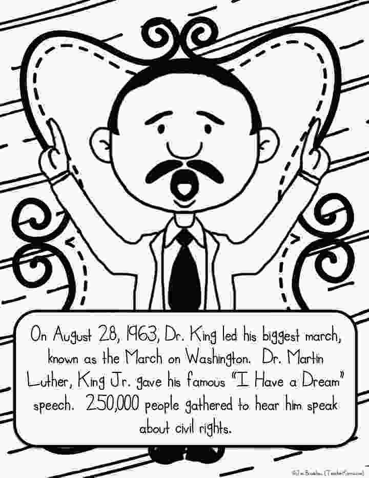 martin luther king jr coloring sheets martin luther king jr freebie teacher karma