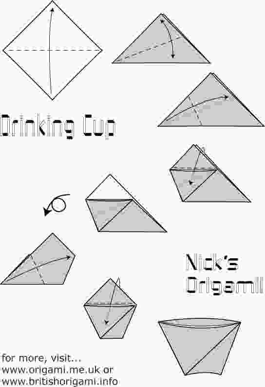 origami cup instructions drinking cup origami oh my pinterest