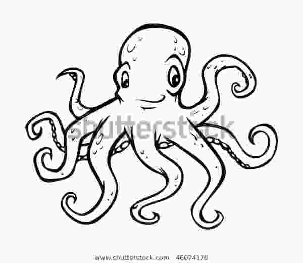 outline picture of octopus cartoon vector outline illustration octopus stock vector royalty free 46074178