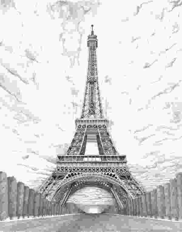 paris eiffel tower drawing 70 easy and beautiful eiffel tower drawing and sketches