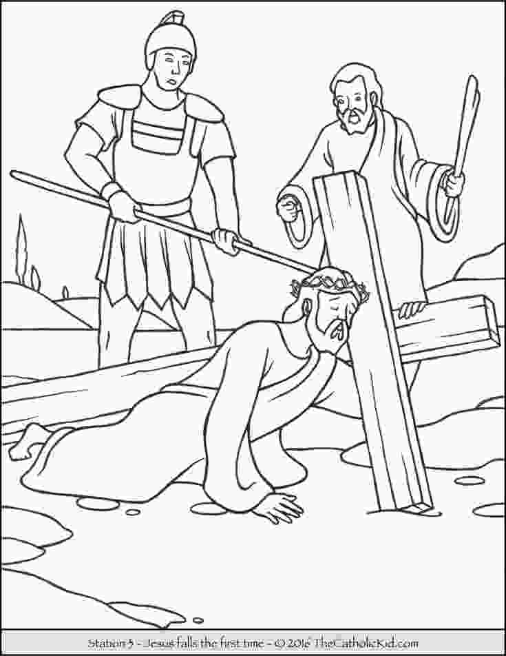 stations of the cross coloring pages 17 best images about stations of the cross coloring pages