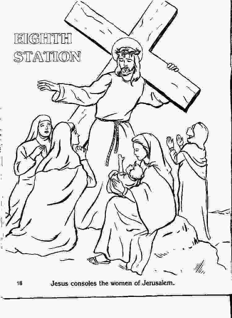 stations of the cross coloring pages coloring stations 1