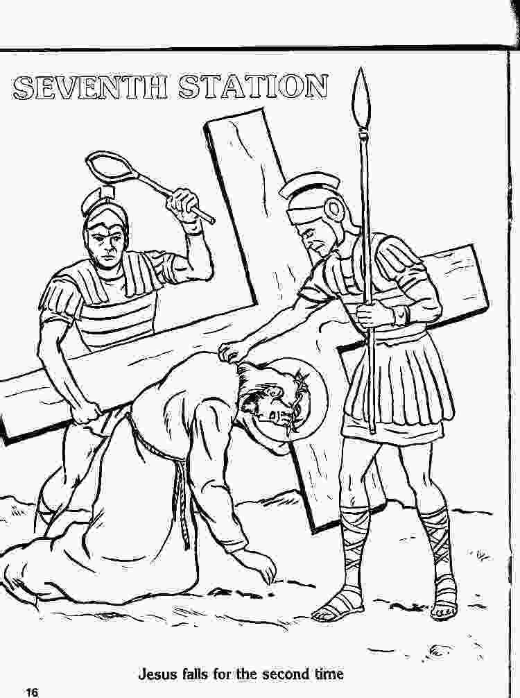 stations of the cross coloring pages coloring stations 2