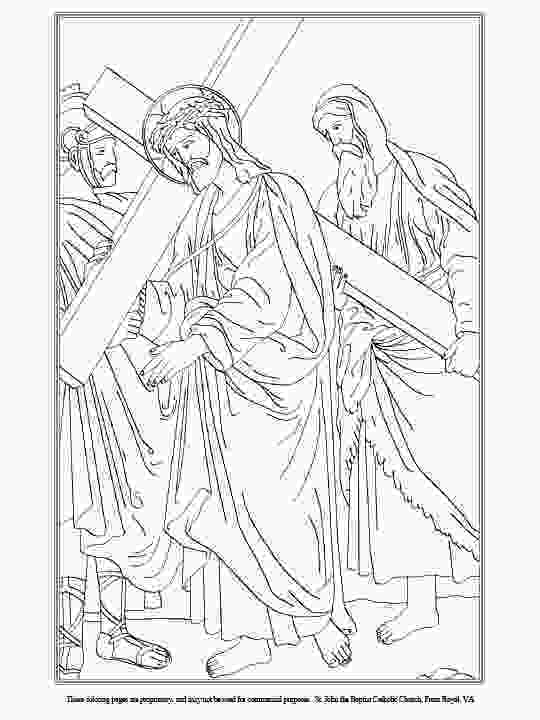 stations of the cross coloring pages st john the baptist roman catholic church front royal