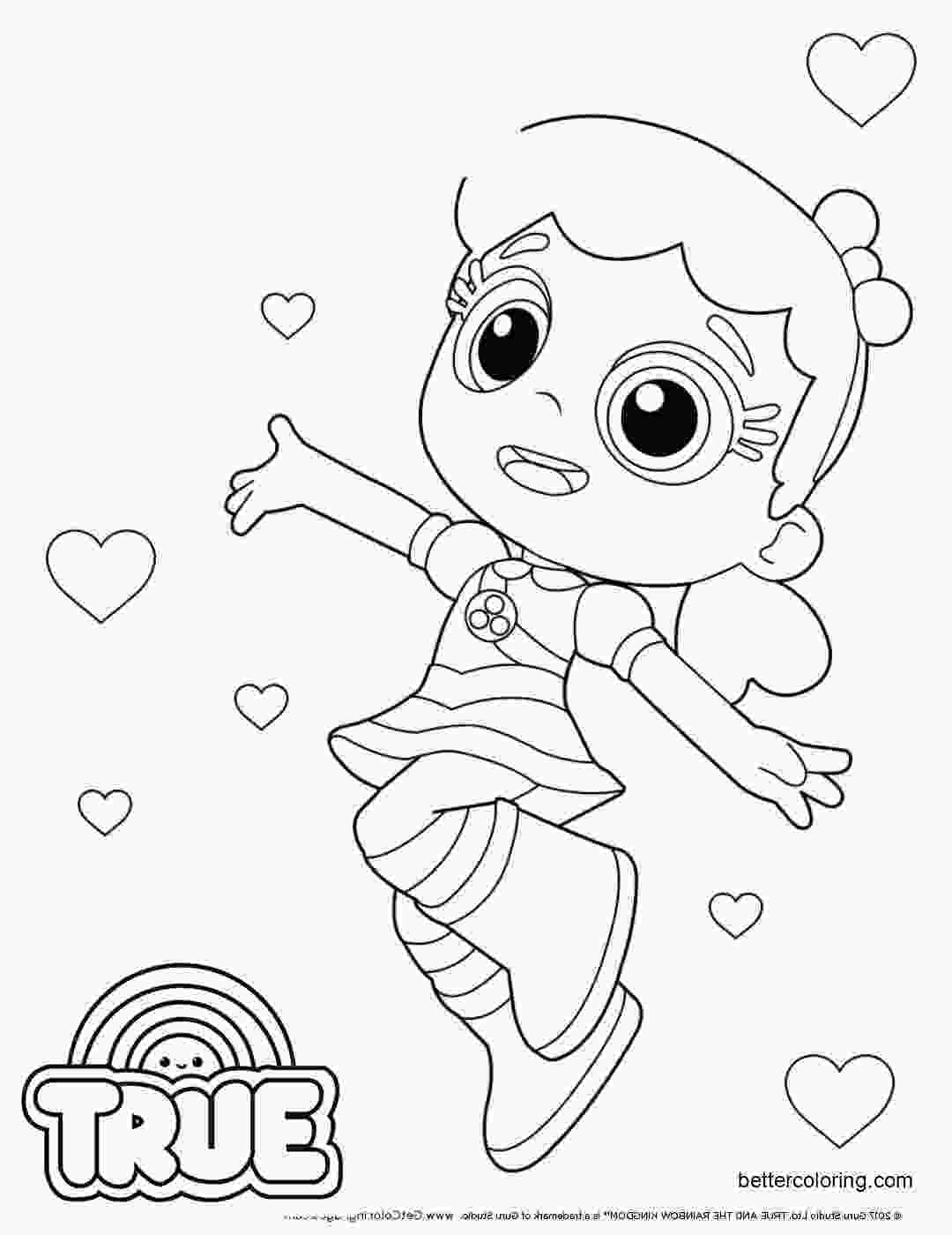 true cartoon coloring pages true and the rainbow kingdom coloring pages clip art