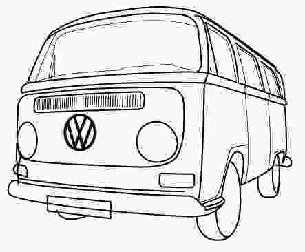 vw bus coloring page vintage bus vw coloring pages