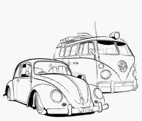 vw bus coloring page vw beetle coloring pages google search projects