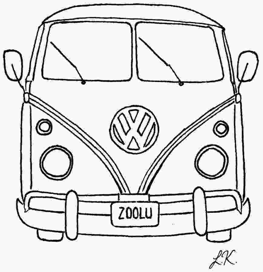 vw bus coloring page vw bus drawing by lauren kirby
