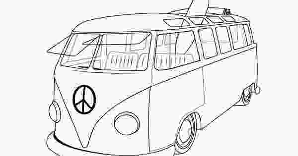 vw bus coloring page vw van coloring pages vdubs and other vehicles