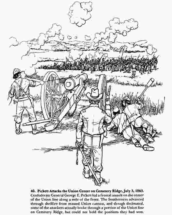 war colouring pages from antietam to gettysburg a civil war coloring book