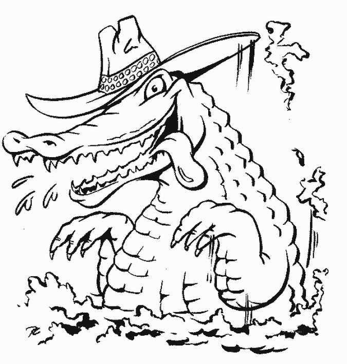 alligator coloring page free coloring pages crocodiles page coloring alligator