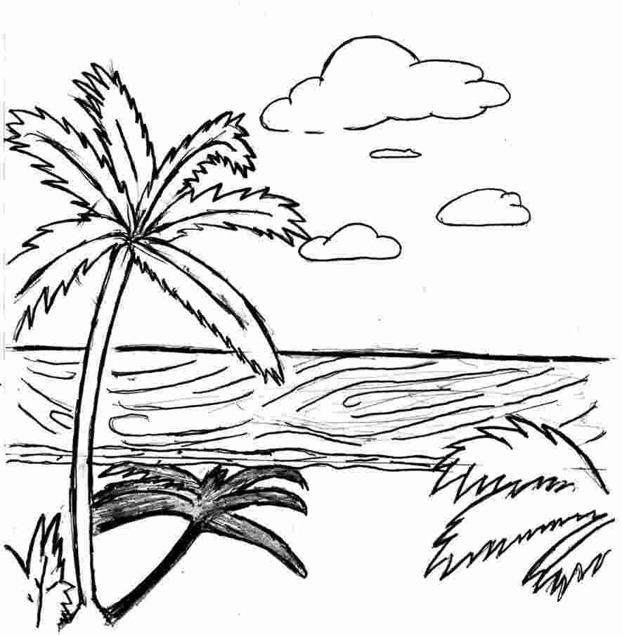 beach beach scene coloring pages beach sunset coloring pages at getcoloringscom free