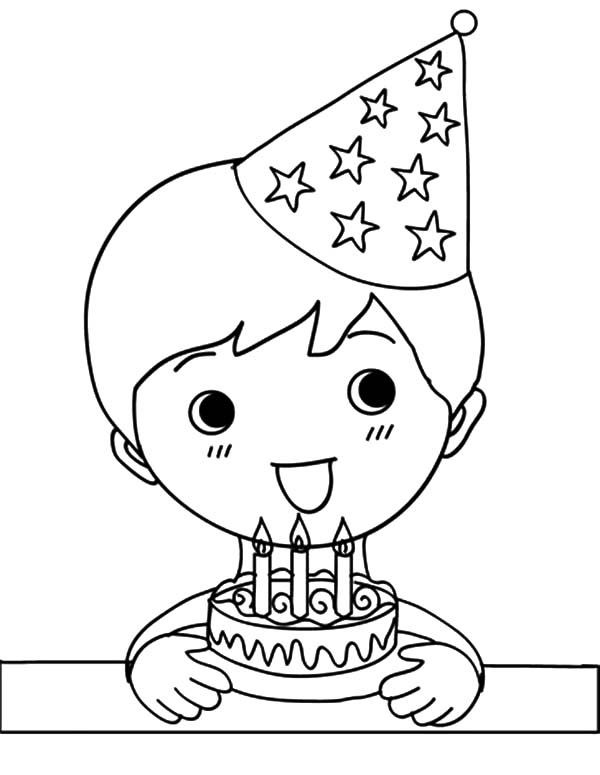 boy birthday coloring pages birthday boy holding three balloons and present coloring boy pages birthday coloring