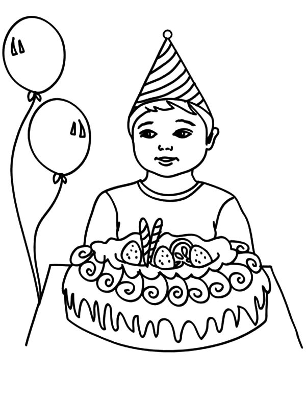 boy birthday coloring pages birthday boy opening his present coloring pages best birthday coloring pages boy