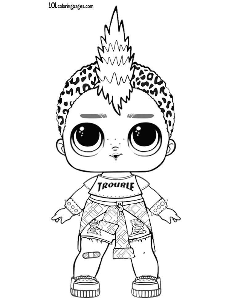 boy lol doll coloring pages coloring pages lol surprise hairgoals and lol surprise boy lol pages coloring doll