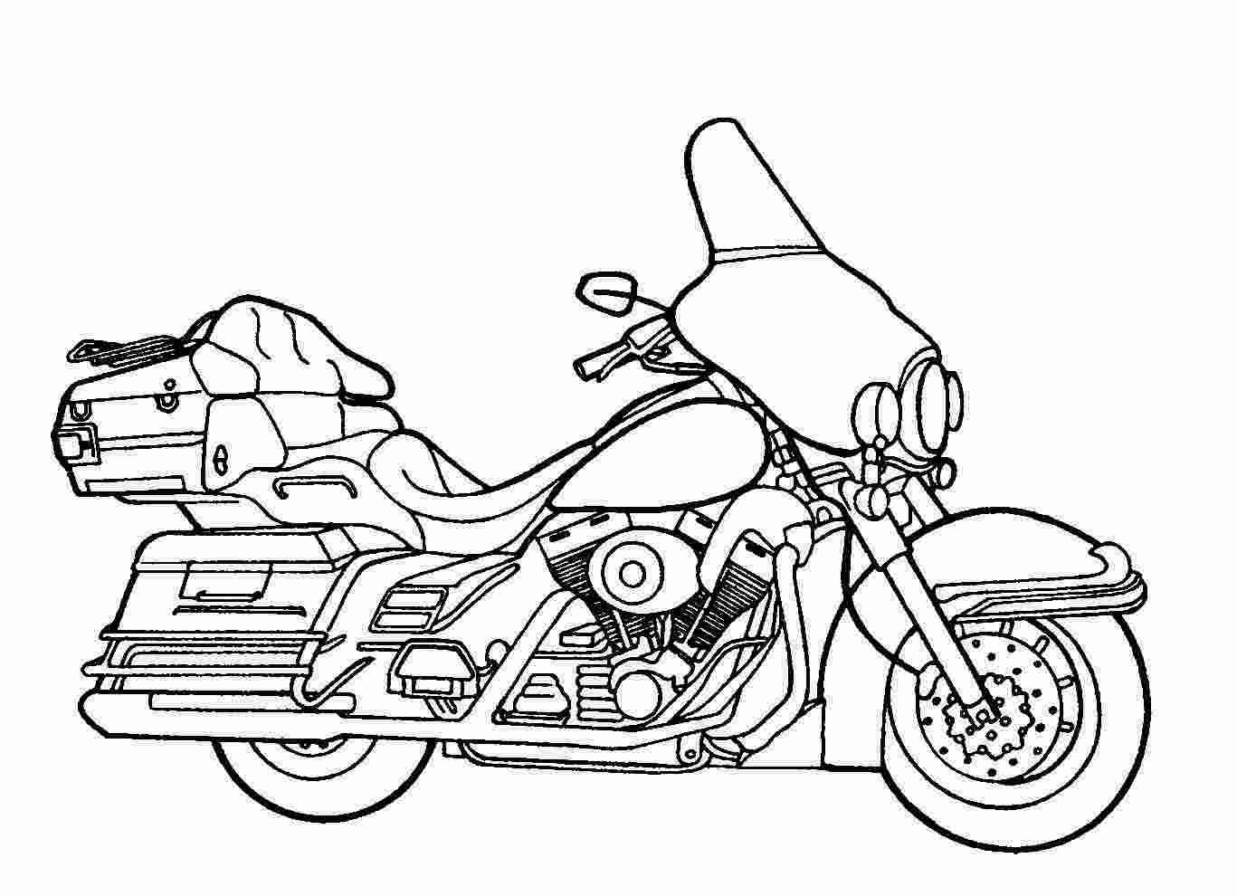 coloring motorcycle pages colour drawing free hd wallpapers 2015