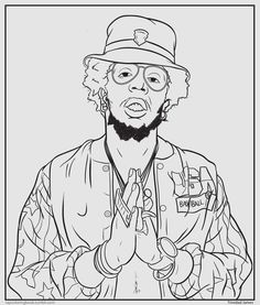 coloring sheets rappers hiphop thegoldenera mark 563 presents hip hop coloring rappers sheets coloring