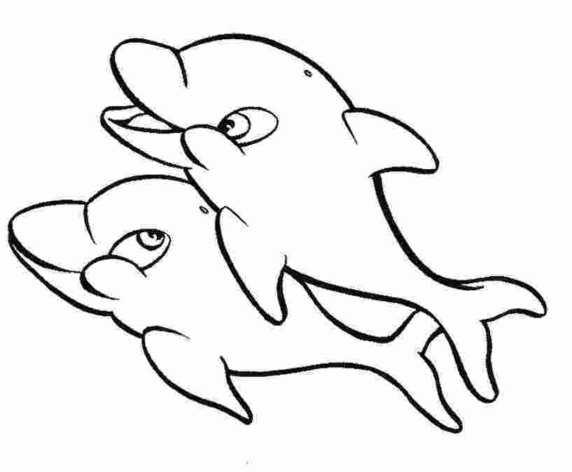 dolphin colouring in pictures free coloring pages of dolphins to the print