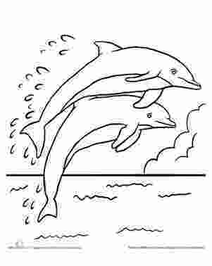 dolphin colouring in pictures leaping dolphins coloring page printables dolphin