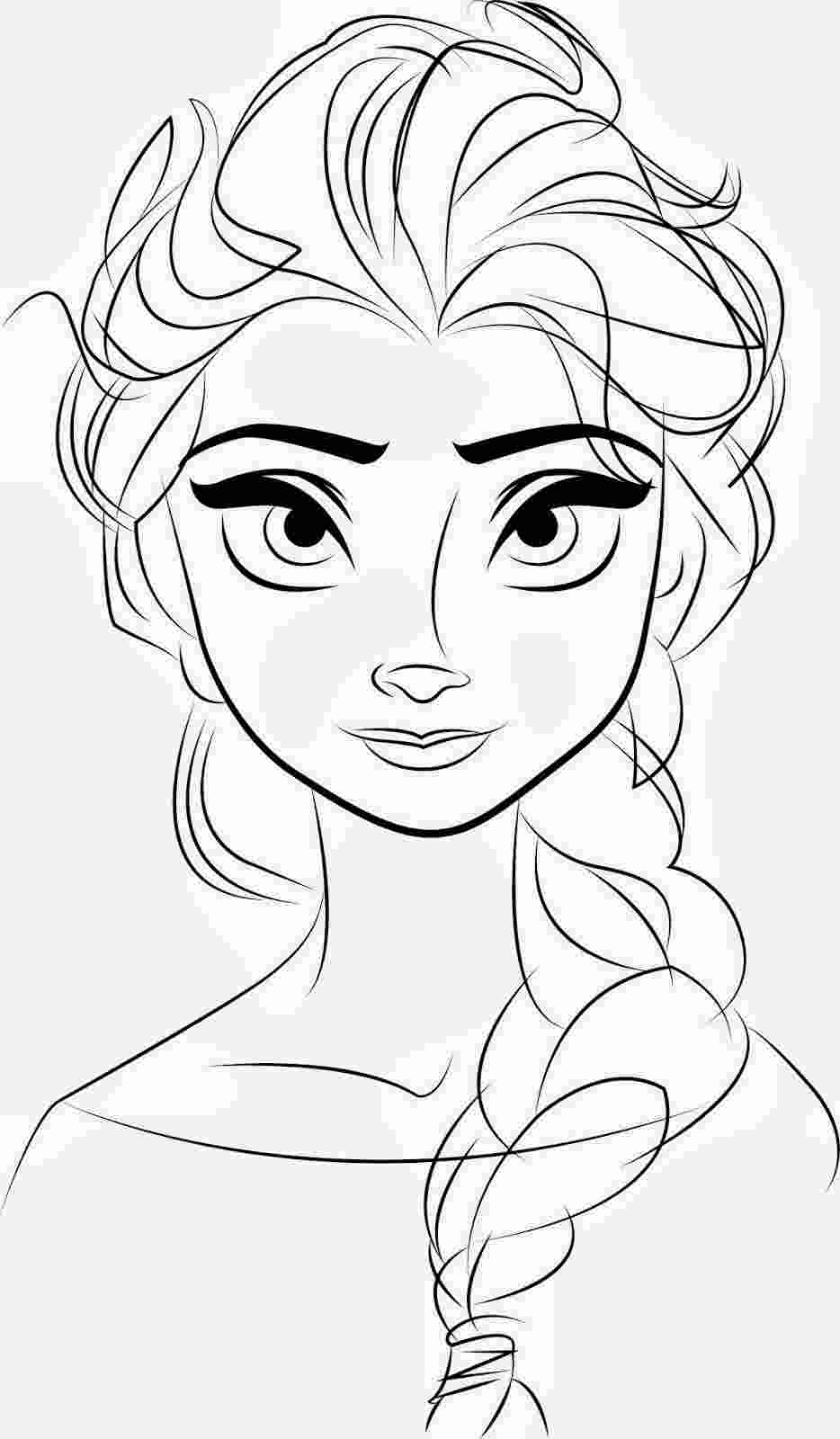 drawing elsa free printable elsa coloring pages for kids best