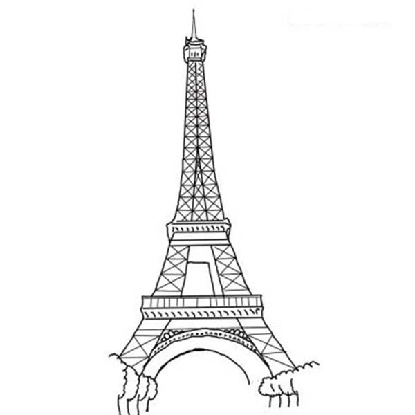 eiffel tower coloring images eiffel tower coloring page free france coloring pages images tower coloring eiffel