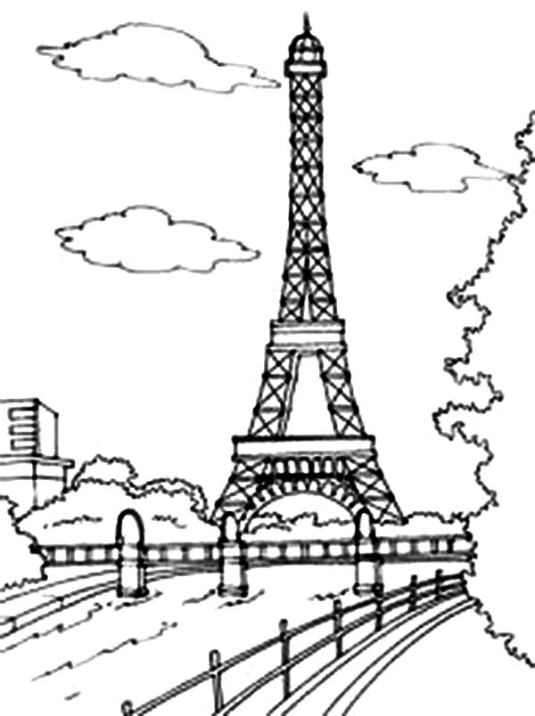 eiffel tower coloring images eiffel tower coloring pages 360coloringpages eiffel coloring tower images