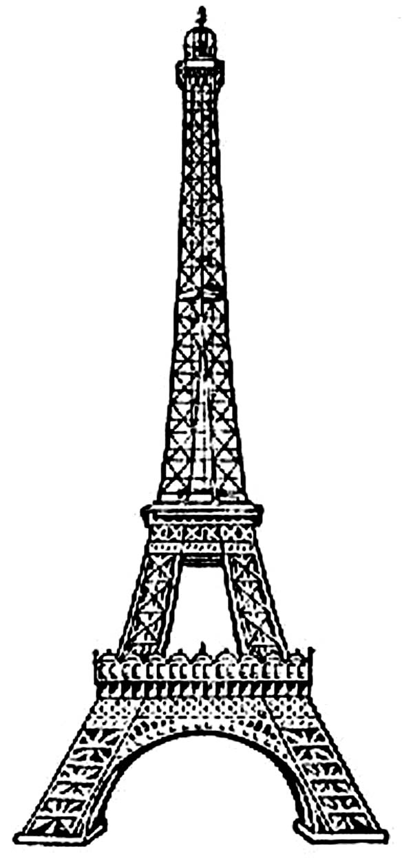eiffel tower coloring images printable eiffel tower coloring pages for kids cool2bkids eiffel images coloring tower