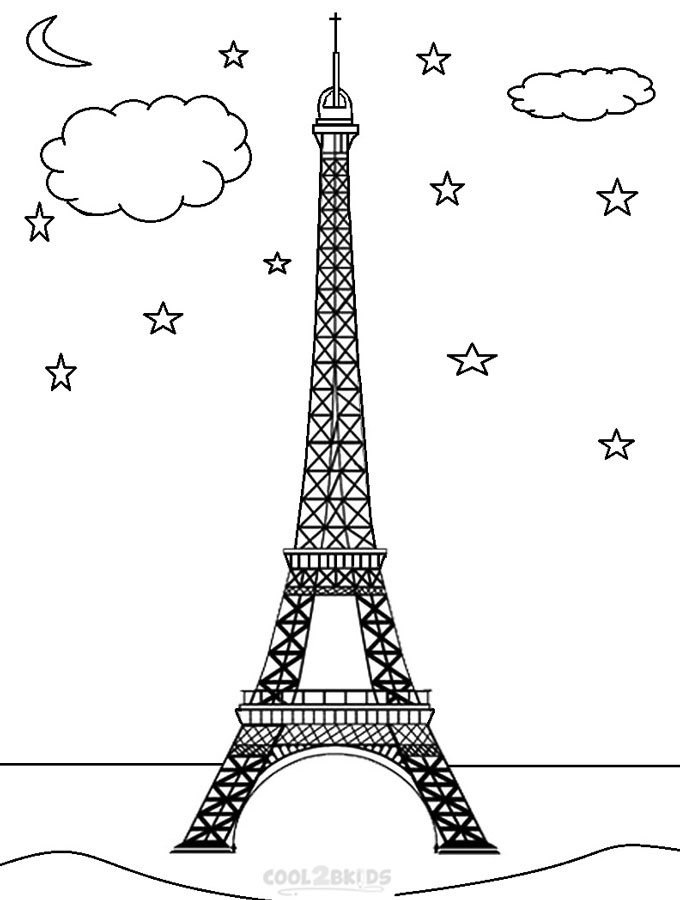 eiffel tower coloring images printable eiffel tower coloring pages for kids cool2bkids eiffel tower images coloring