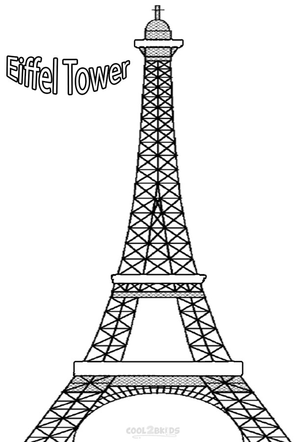 eiffel tower coloring images printable eiffel tower coloring pages for kids cool2bkids images coloring tower eiffel