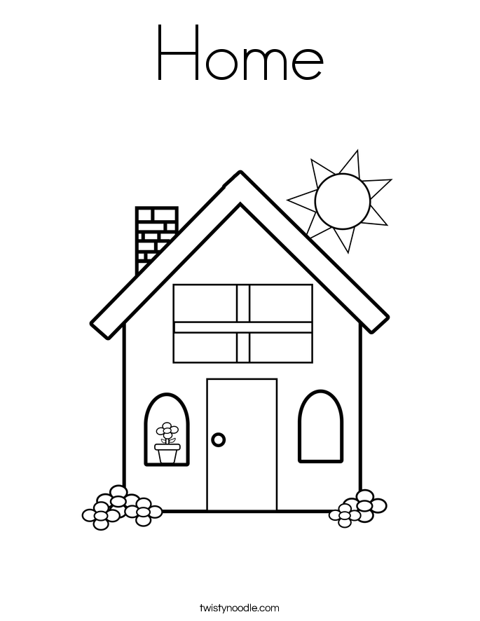 home coloring pages home coloring page twisty noodle home pages coloring