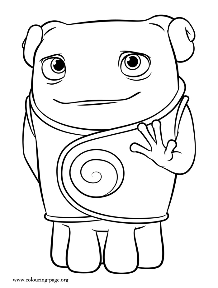 home coloring pages home oh a boov coloring page coloring pages home