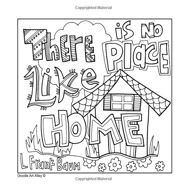 home coloring pages imagination will take you everywhere doodle art alley home pages coloring