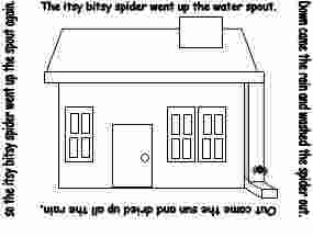 itsy bitsy spider coloring page itsy bitsy spider ideas itsy bi