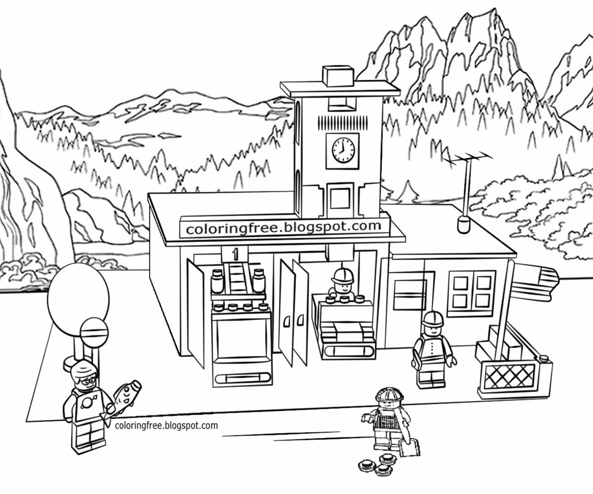 lego city drawing printable lego city coloring pages for kids clipart lego drawing city