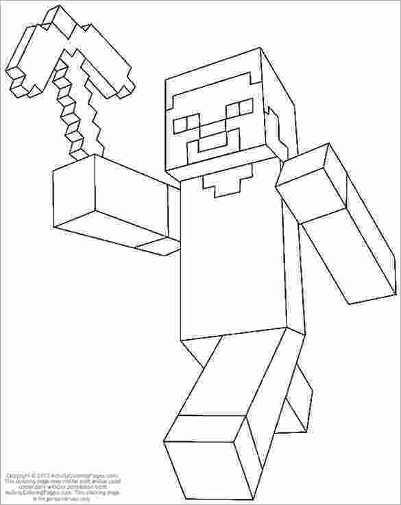 minecraft colouring pages 16 minecraft coloring pages pdf psd png free