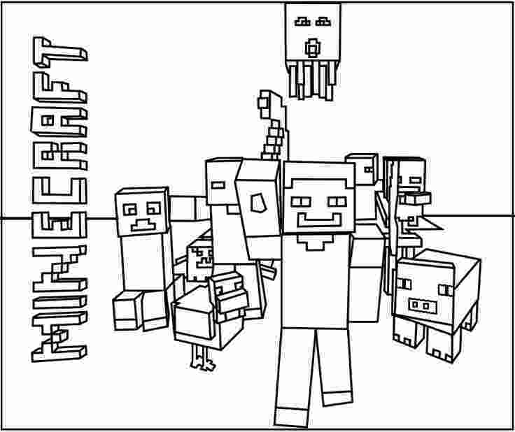 minecraft colouring pages minecraft coloring pages print them for free 100