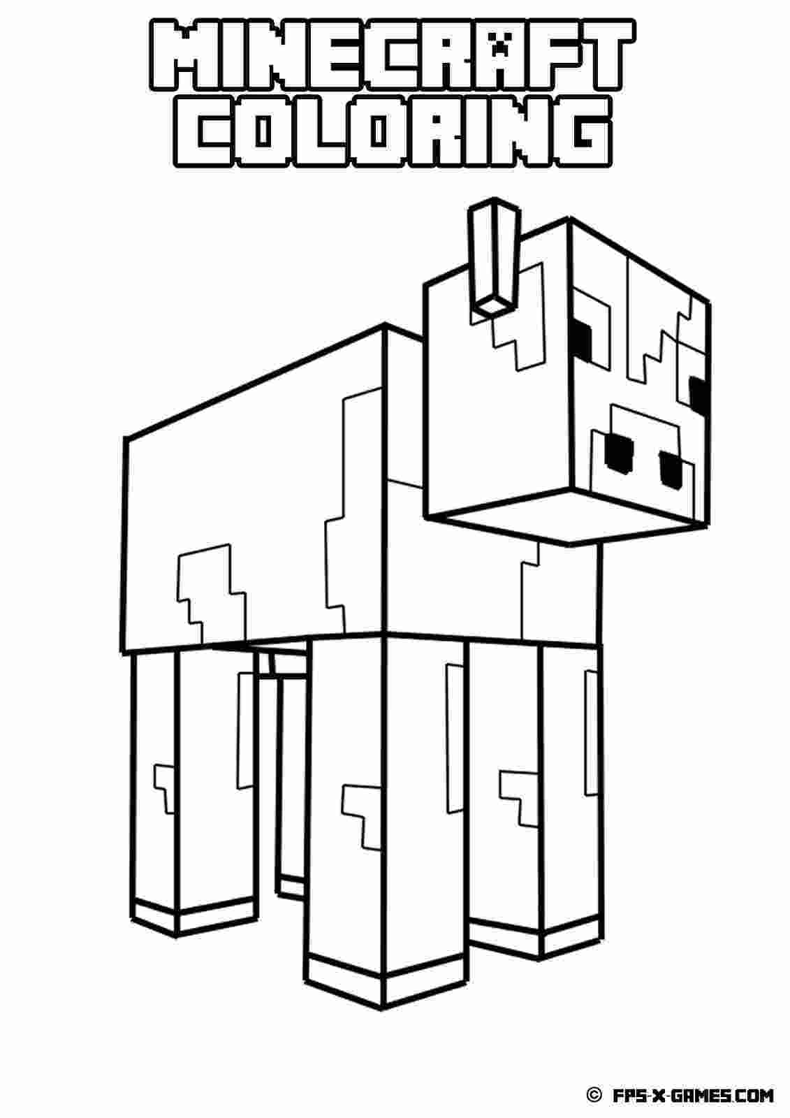 minecraft colouring pages printable minecraft coloring pages coloring home