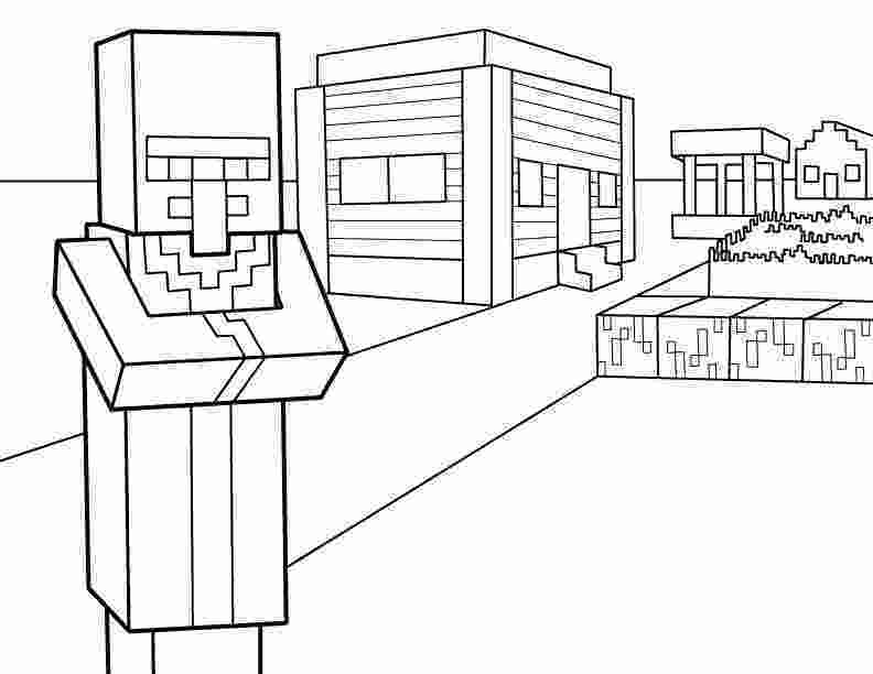 minecraft colouring pages villager pdf printable coloring page minecraft