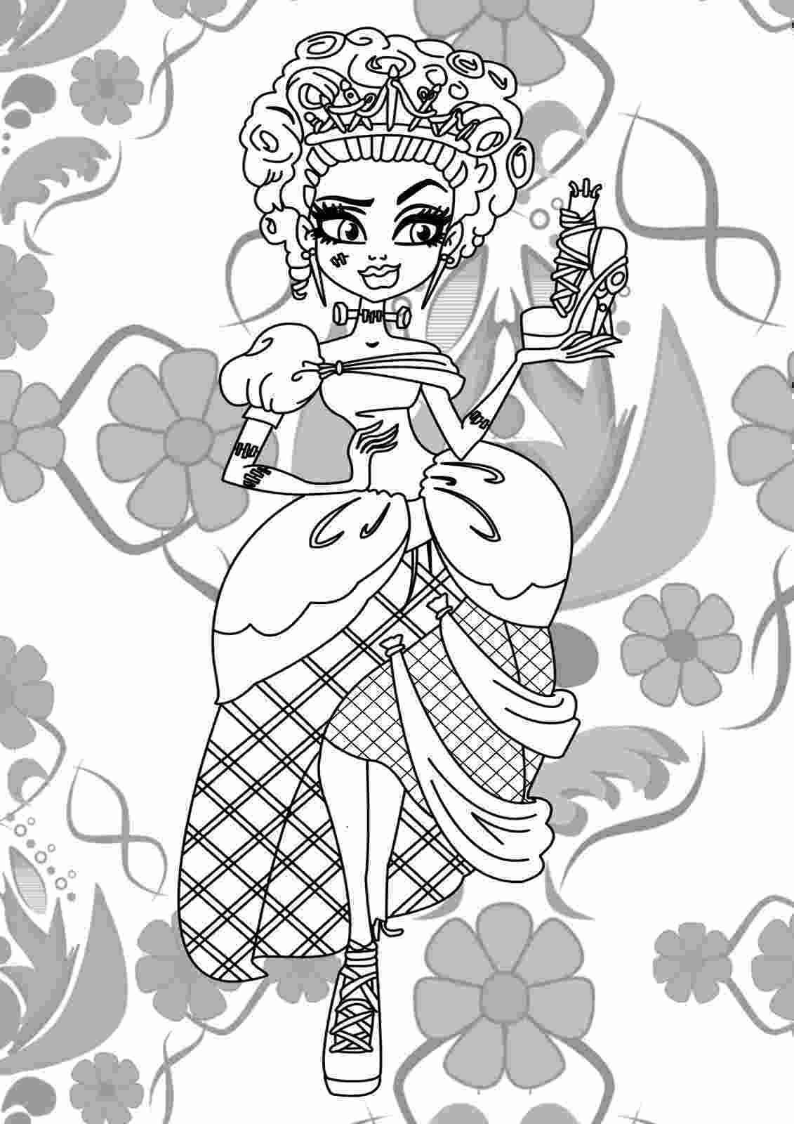 monster high coloring pages printable monster high jinafire long coloring pages free printable