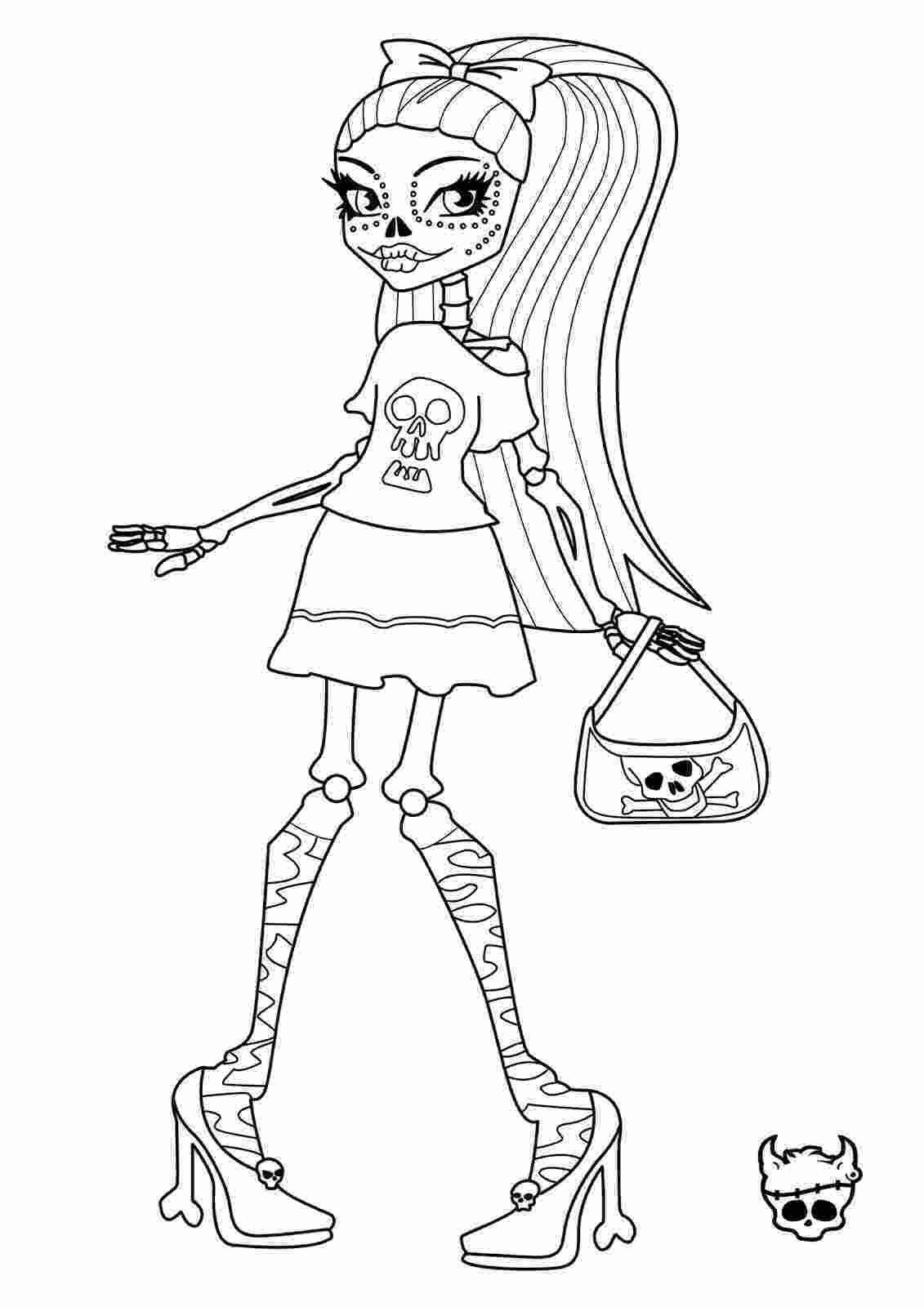 monster high coloring pages printable monster high skelita calaveras coloring page learn to